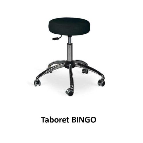 Taboret BINGO (na chromowanych nóżkach + kółka)
