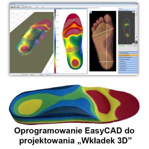 Oprogramowanie EasyCAD projektowanie wkładek 3D