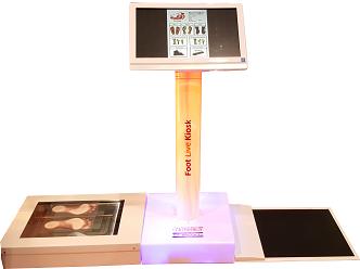 """Live Foot Kiosk """"Wkładki 3D Online"""" – interaktywny kiosk diagnostyczny"""