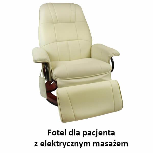 Fotel dla pacjenta z elektrycznym masażem
