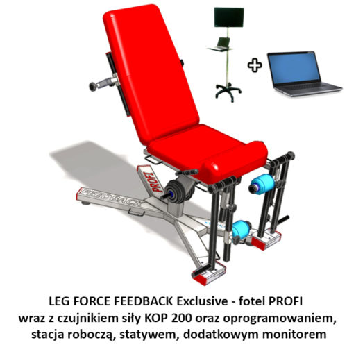 LEG FORCE FEEDBACK Exclusive - pomiar i komputerowa rehabilitacja siły mięśniowej kończyn dolnych