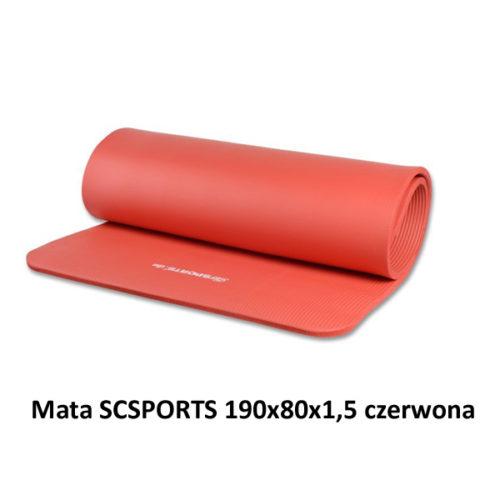 Mata SCSPORTS 190x80x1,5 czerwona