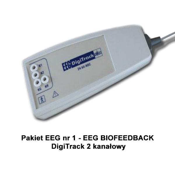 Pakiet EEG nr 1 - EEG BIOFEEDBACK DigiTrack 2 kanałowy