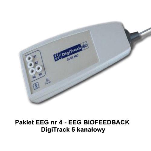 Pakiet EEG nr 4 - EEG biofeedback DigiTrack 5 kanałowy
