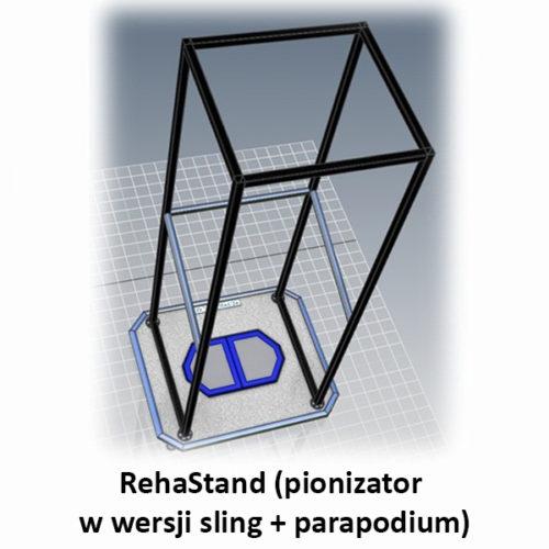 RehaStand (pionizator w wersji sling + parapodium)