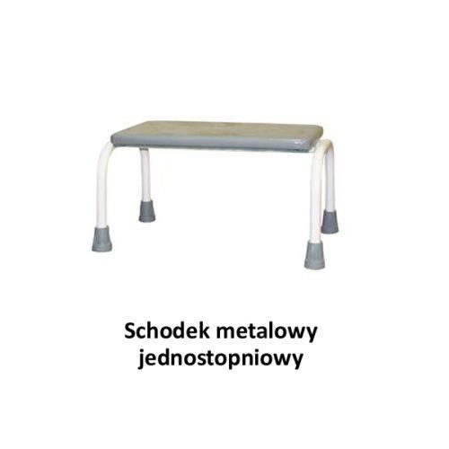 Schodek metalowy jednostopniowy