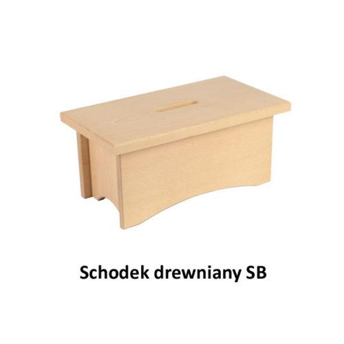 Schodek drewniany SB