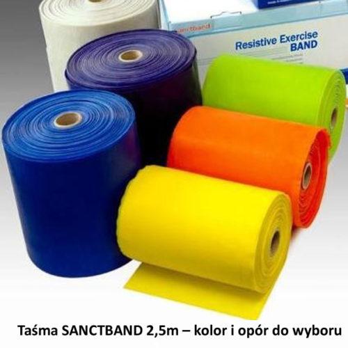 Taśma SANCTBAND 2,5m – kolor i opór do wyboru