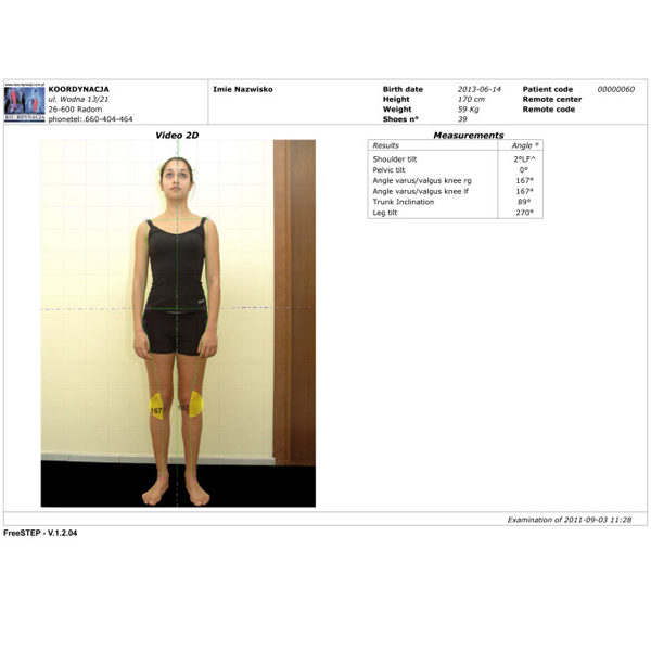 Videografia Video Pack (Videography 1-4 Cam) - pakiet do analizy postawy ciała i jego lokomocji wraz z kamerą i statywem