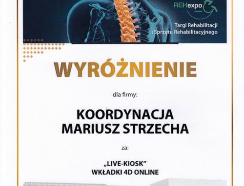 """LIVE-KIOSK"" WKŁADKI 4D ONLINE – wyróżnienie na Targach REHexpo"