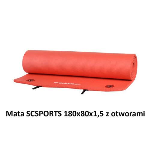 Mata SCSPORTS 180x80x1,5 z otworami