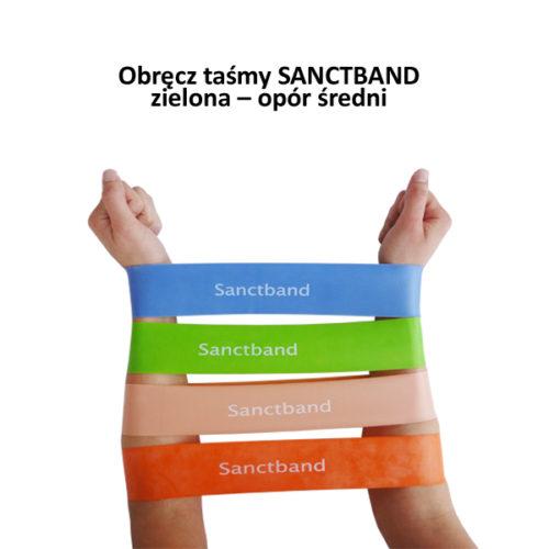 Obręcz taśmy SANCTBAND – zielona – opór średni