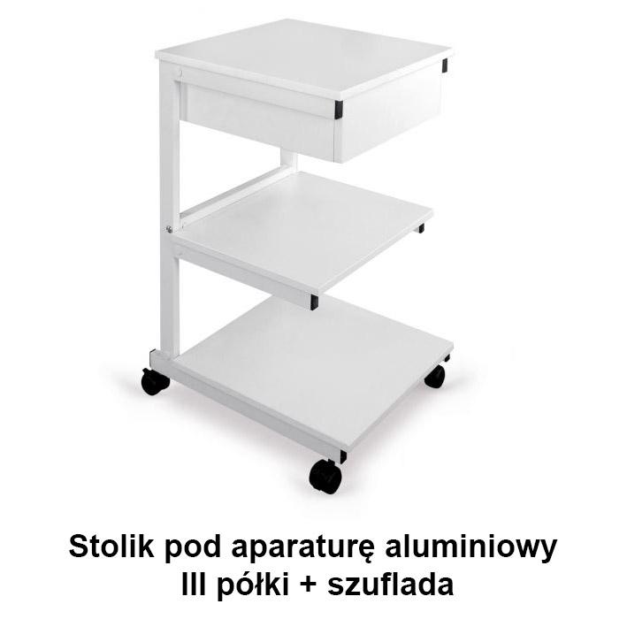 Stolik Pod Aparaturę Aluminiowy Iii Półki Szuflada