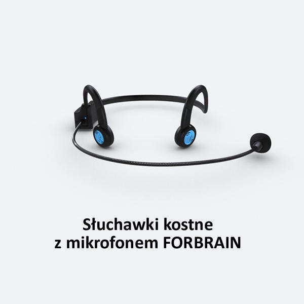 FORBRAIN – słuchawki kostne z mikrofonem