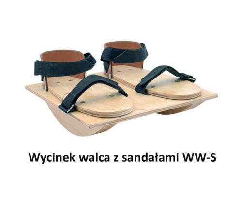 Wycinek walca z sandałami WW-S