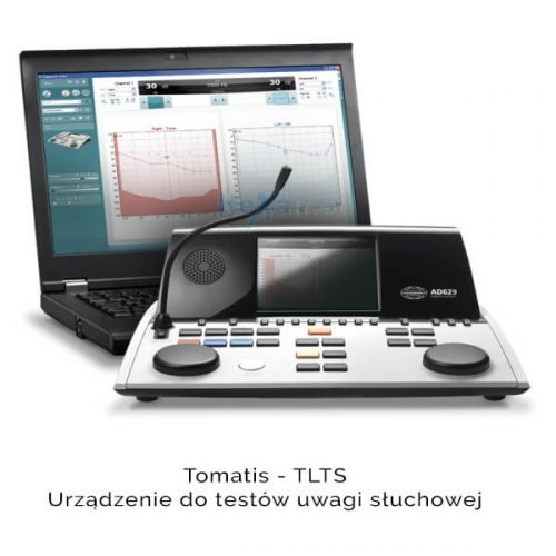 Tomatis urządzenie do testów uwagi słuchowej.