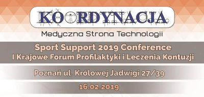 Zaproszenie Sport Support 2019 Conference w tle