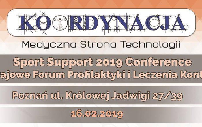 Zaproszenie Sport Support 2019 Conference w tle