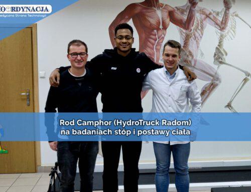 Rod Camphor – koszykarz HydroTruck Radom w KOORDYNACJI na badaniach stóp