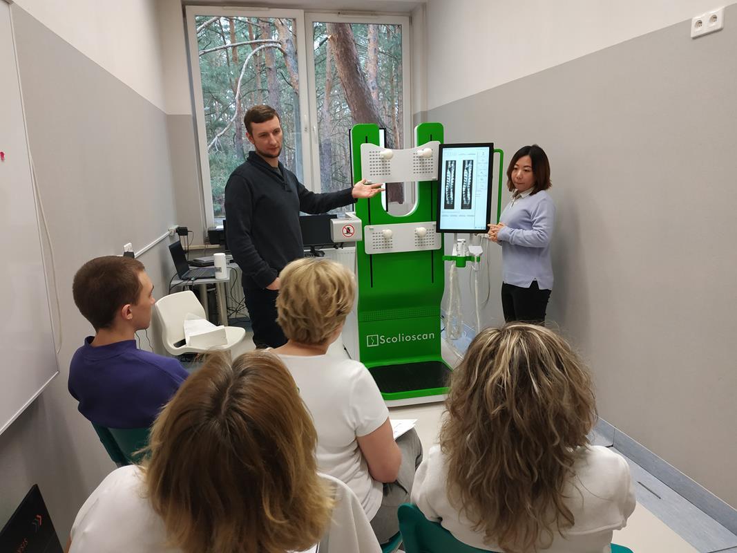 Scolioscan 3D badanie kręgosłupa USG