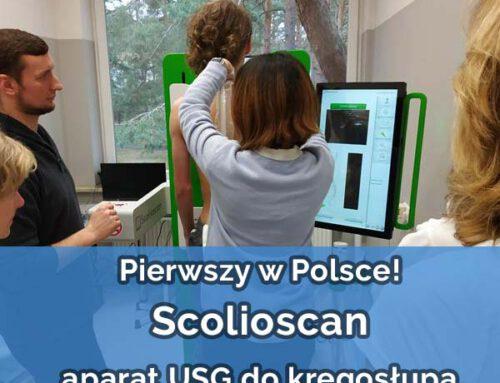 Scolioscan – aparat USG do badania kręgosłupa – pierwszy raz w Polsce !